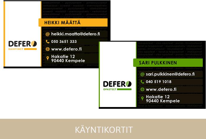 Käyntikorttien suunnittelu Jyväskylä
